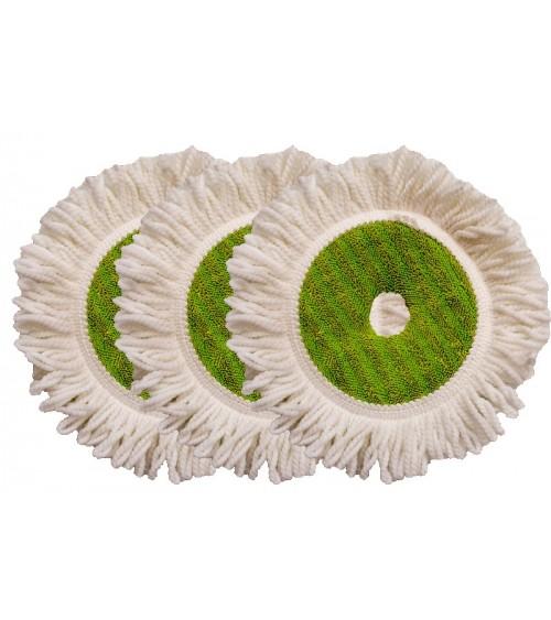 Set de 3 disques microfibre pour GreenApple Mop/Velcro