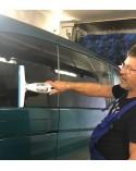 Efficace sur vitres de véhicules et carrosserie, car ne griffe pas grâce à la lame en silicone souple, Mobil-Home et autres surf