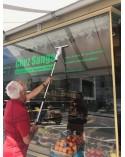 Conseillé pour commerces, salon de coiffures, avec manche télescopique 120 cm. atteignant y compris la personne , plus de 3 mètr