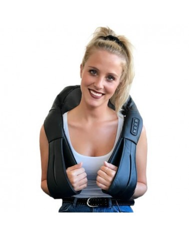Shiatsu masseur du dos et muscles du cou avec accumulateur rechargeable